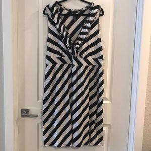 INC dress black and white stripes